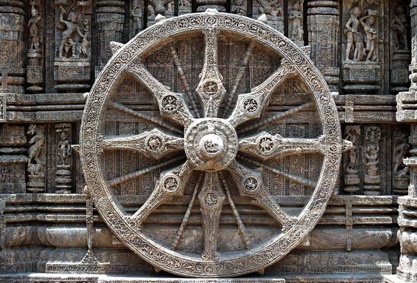 "A symbol of the eight fold path ""Arya Magga."""