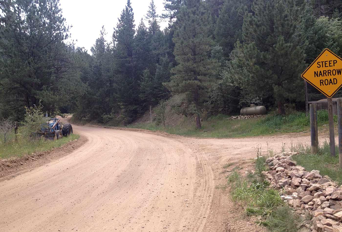 Lickskillet Road, unincorporated Boulder County.