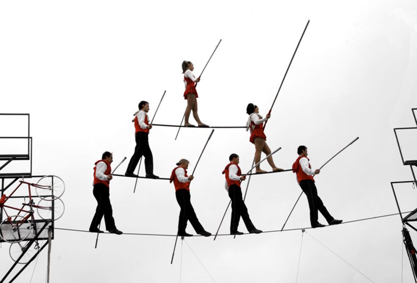 The Flying Wallendas 7-Man Pyramid The Big E Fair, 2005.