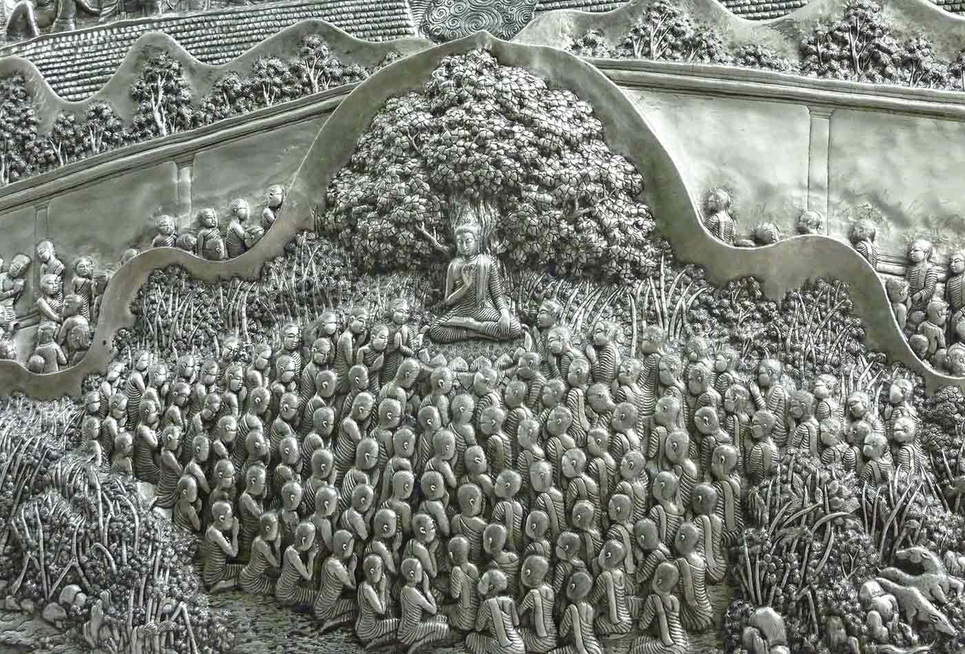 Buddha Teaching the Monks.