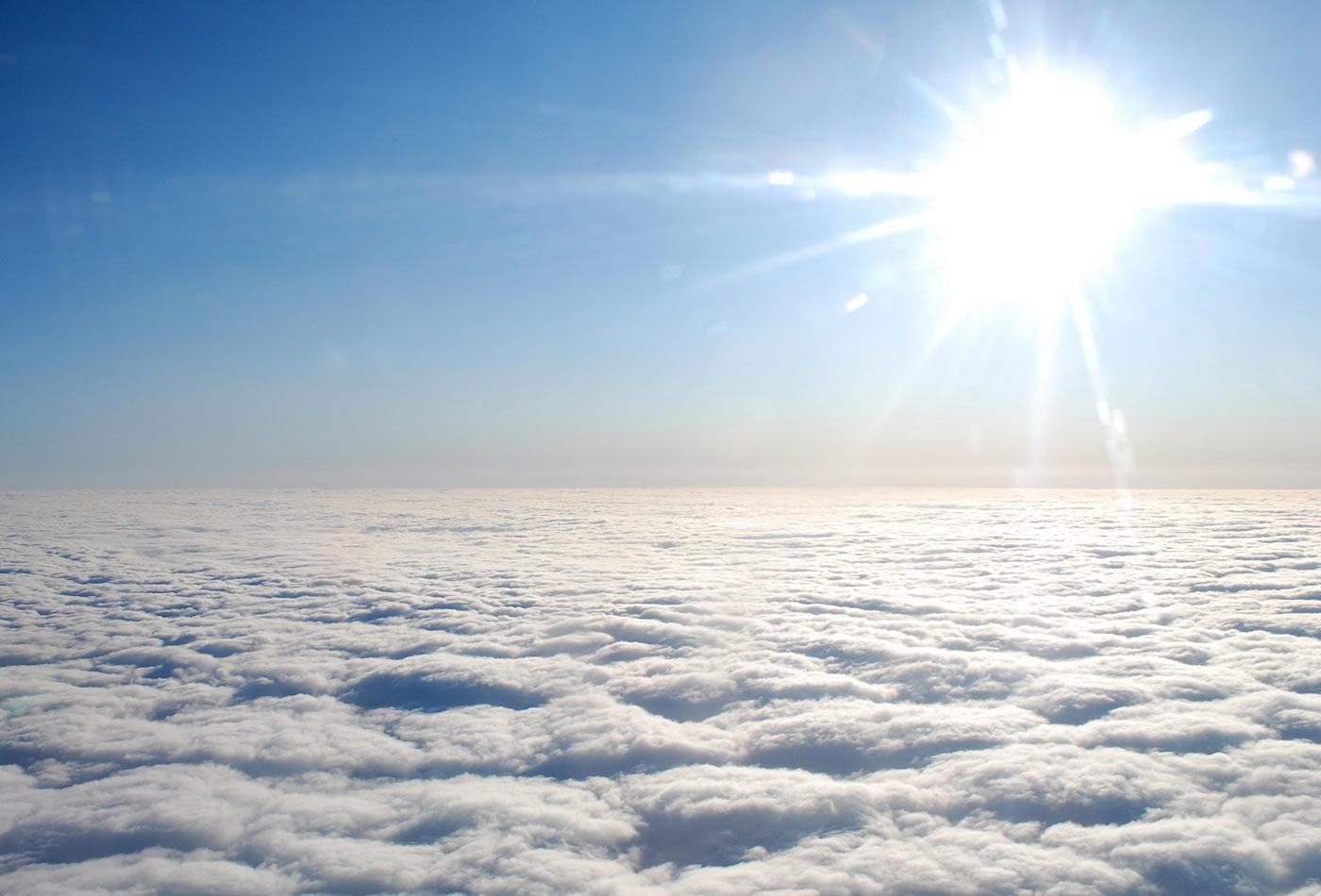 Flat Clouds Blazing Sun