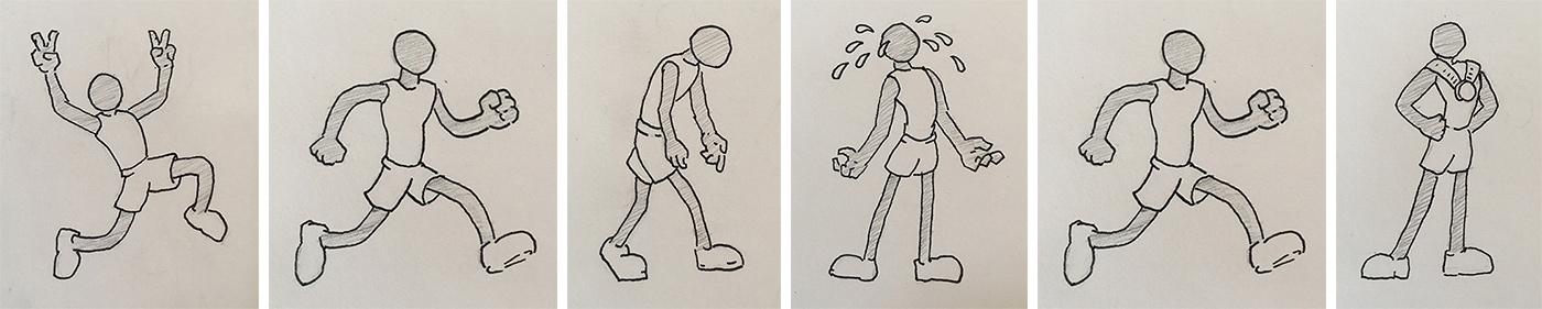 marathon drawings