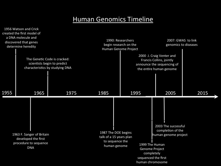 Timeline for Human Genome Project