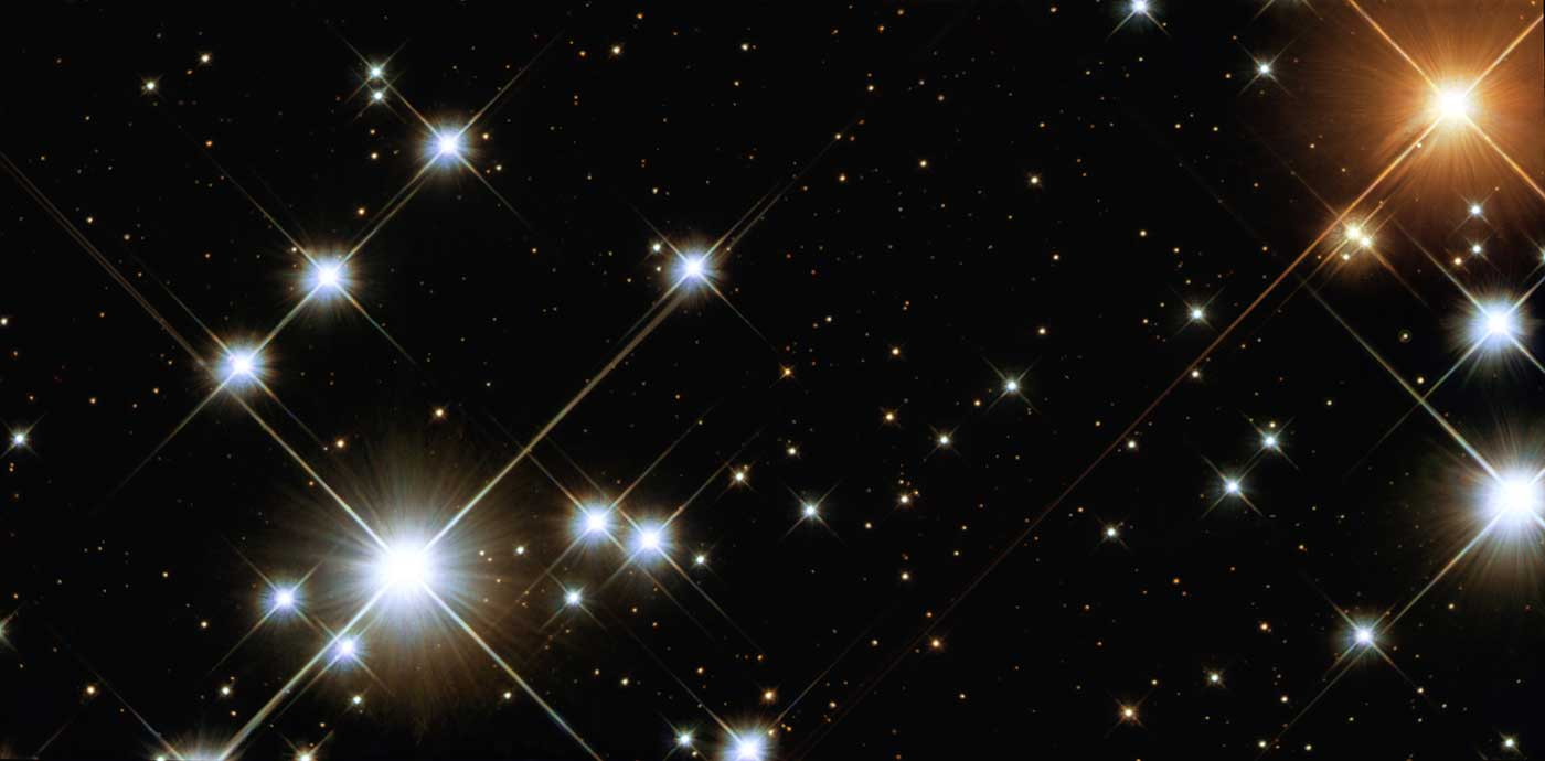"""A """"close-up"""" view from the NASA/ESA Hubble Space Telescope of NGC 4755, or the Jewel Box cluster."""