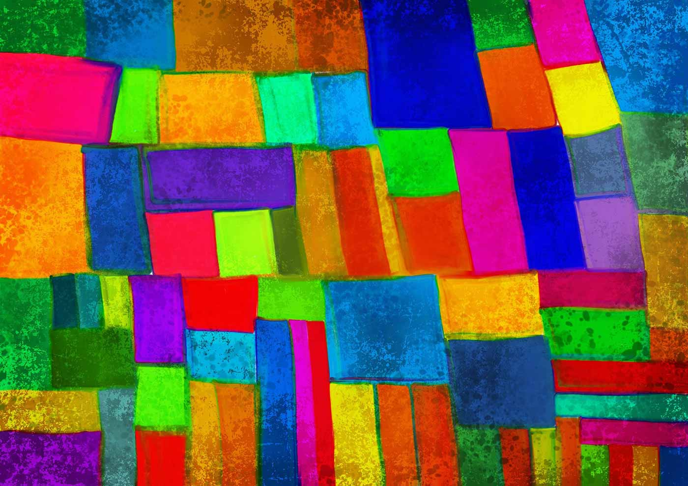 Abstract shapes on a canvas