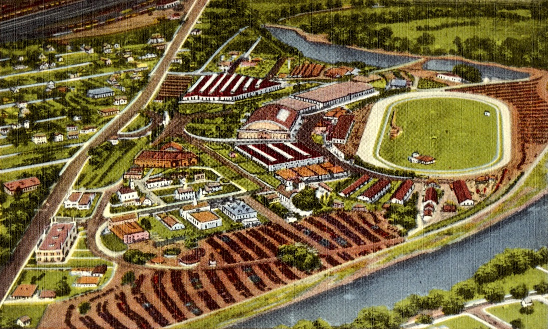 Aerial view of Eastern States Exposition Grounds