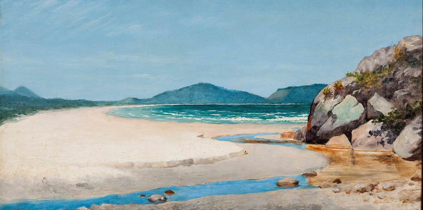 """Seascape, Guarujá,"" by José Ferraz de Almeida Júnior, 1895."