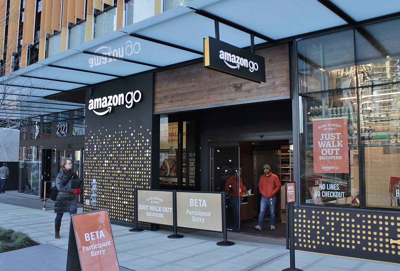 The Amazon Go store at Day One, Seattle, Washington