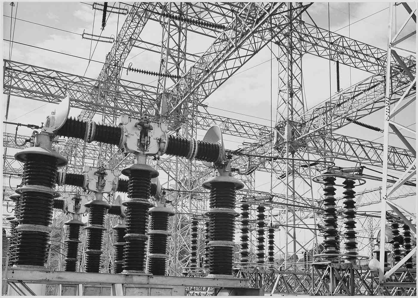 Ansel Adams' photograph of the Boulder Dam Power Units.