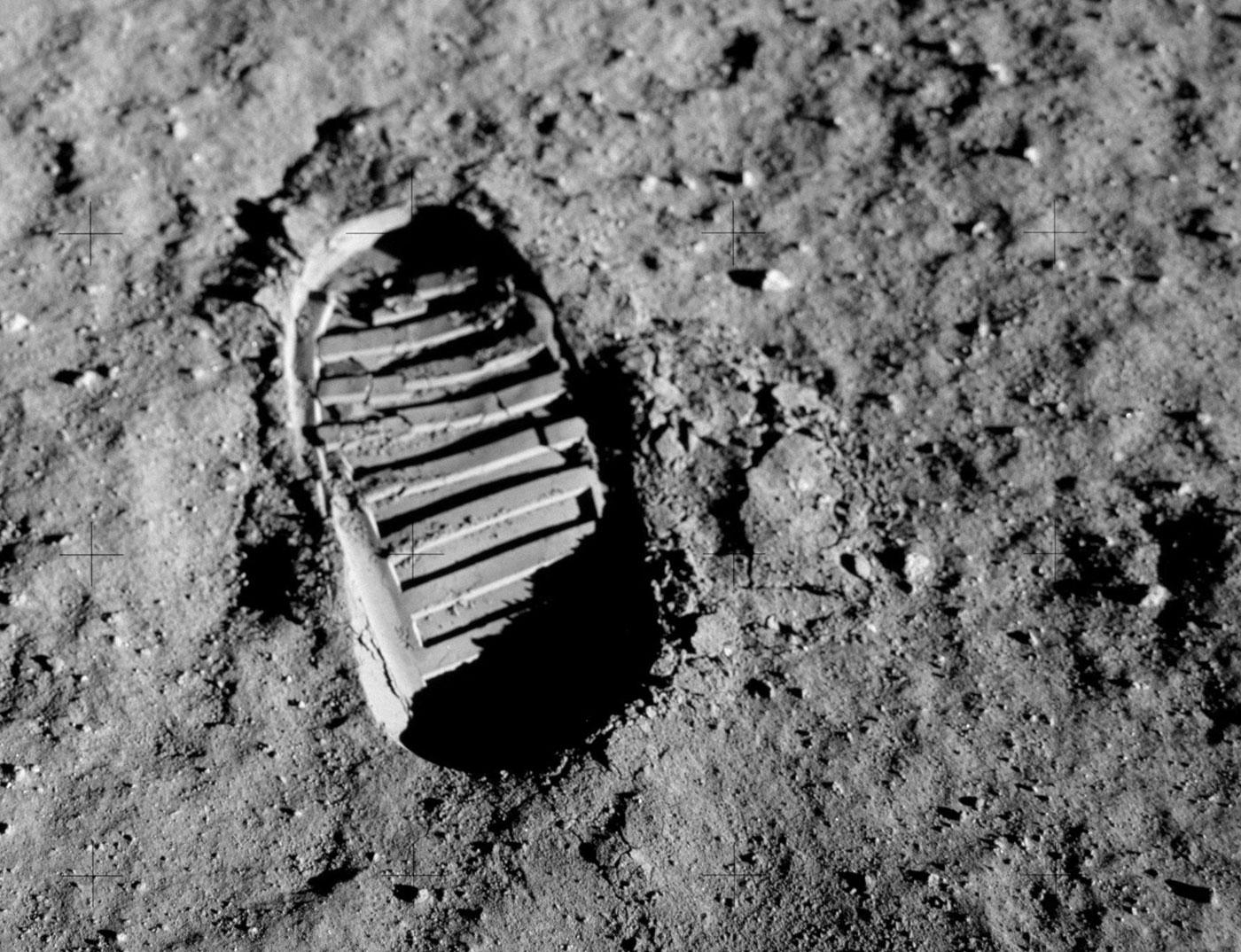 Apollo 11 bootprint