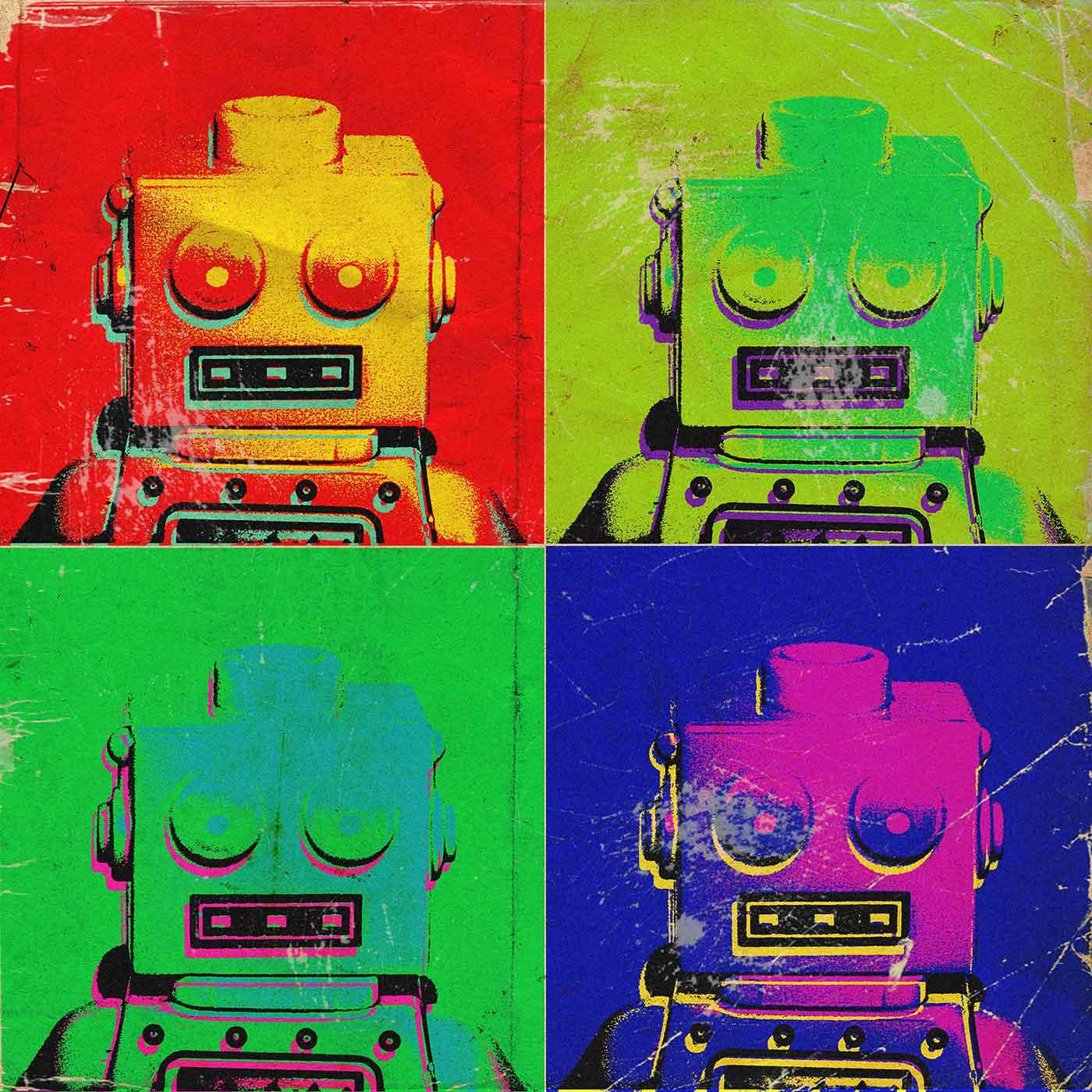 Robot pop art