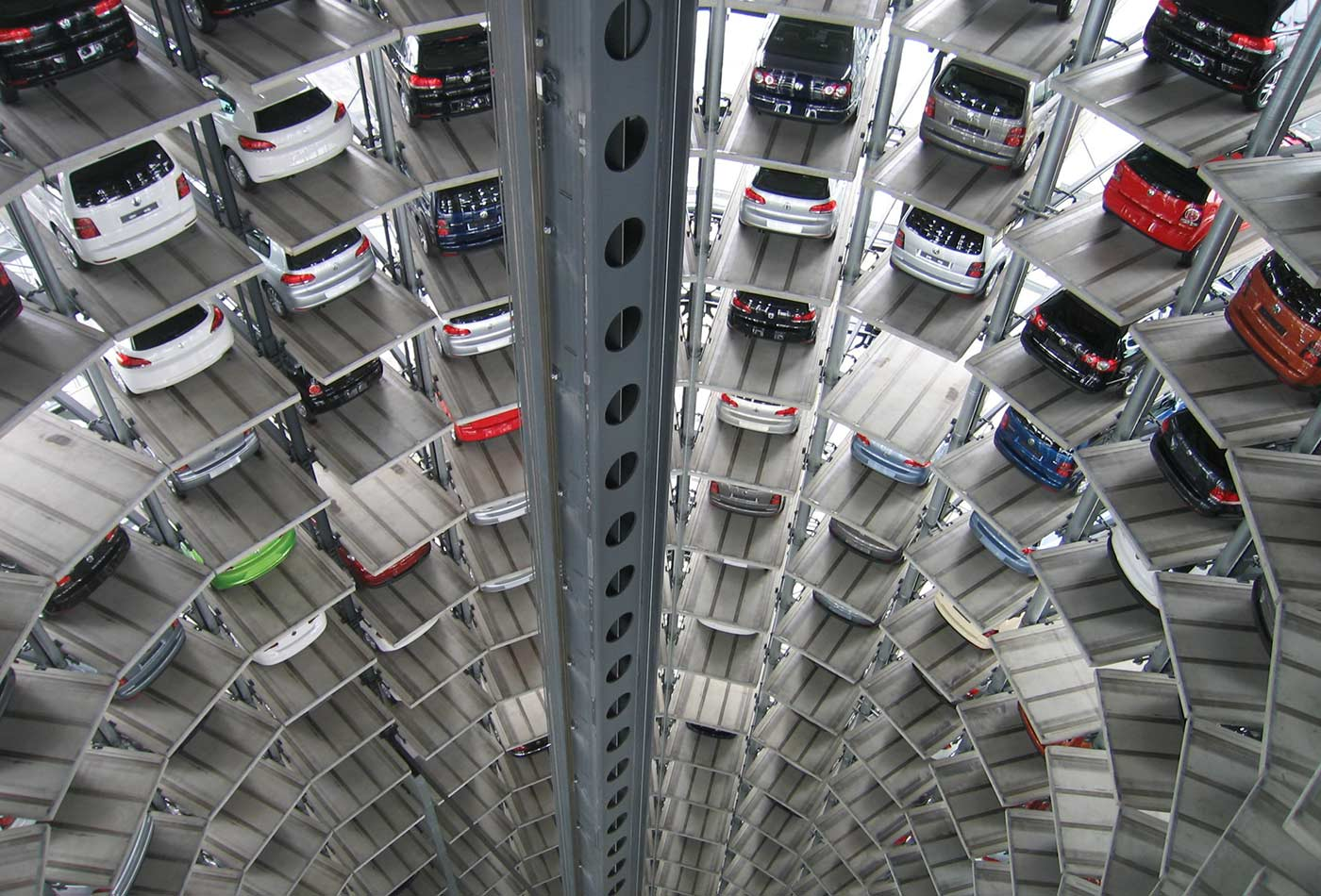Elevated parking lot.