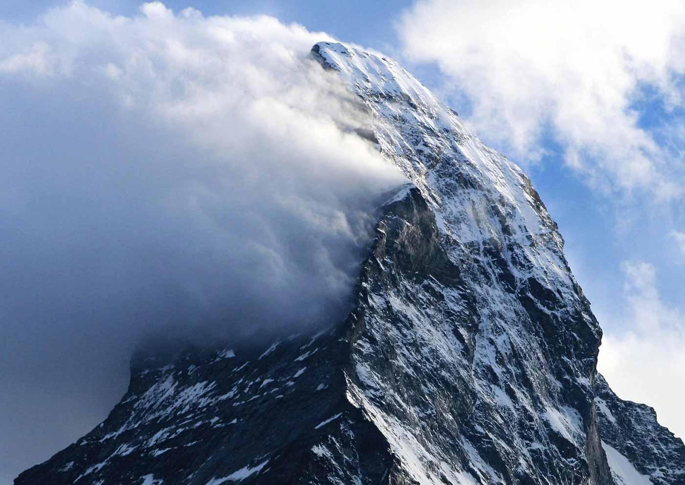 Banner clouds on the Matterhorn