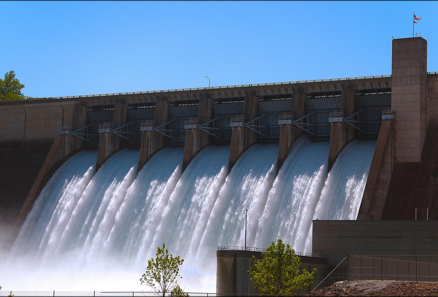 Beaver Lake Dam floodgates
