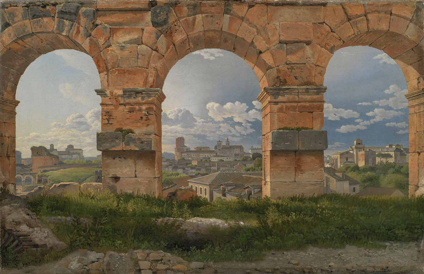 """""""A View Through Three Arches of the Third Storey of the Colosseum,"""" by C.W. Eckersberg (1815)"""