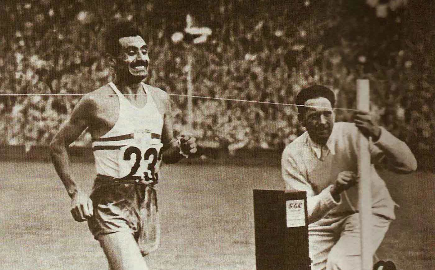 Delfo Cabrera Gómez, winner of the marathon race at the 1948 Summer Olympics in one of the most dramatic finishes in athletics history.