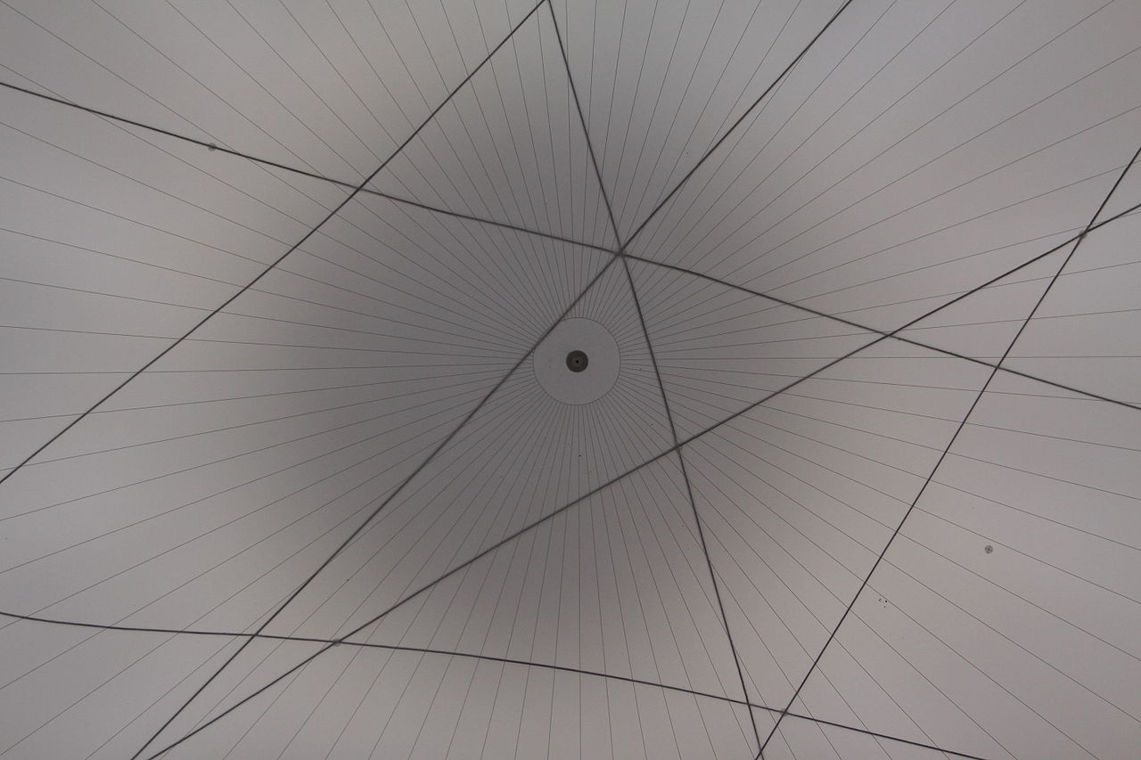 Detail from Big Air Package by Christo in Gasometer Oberhausen.
