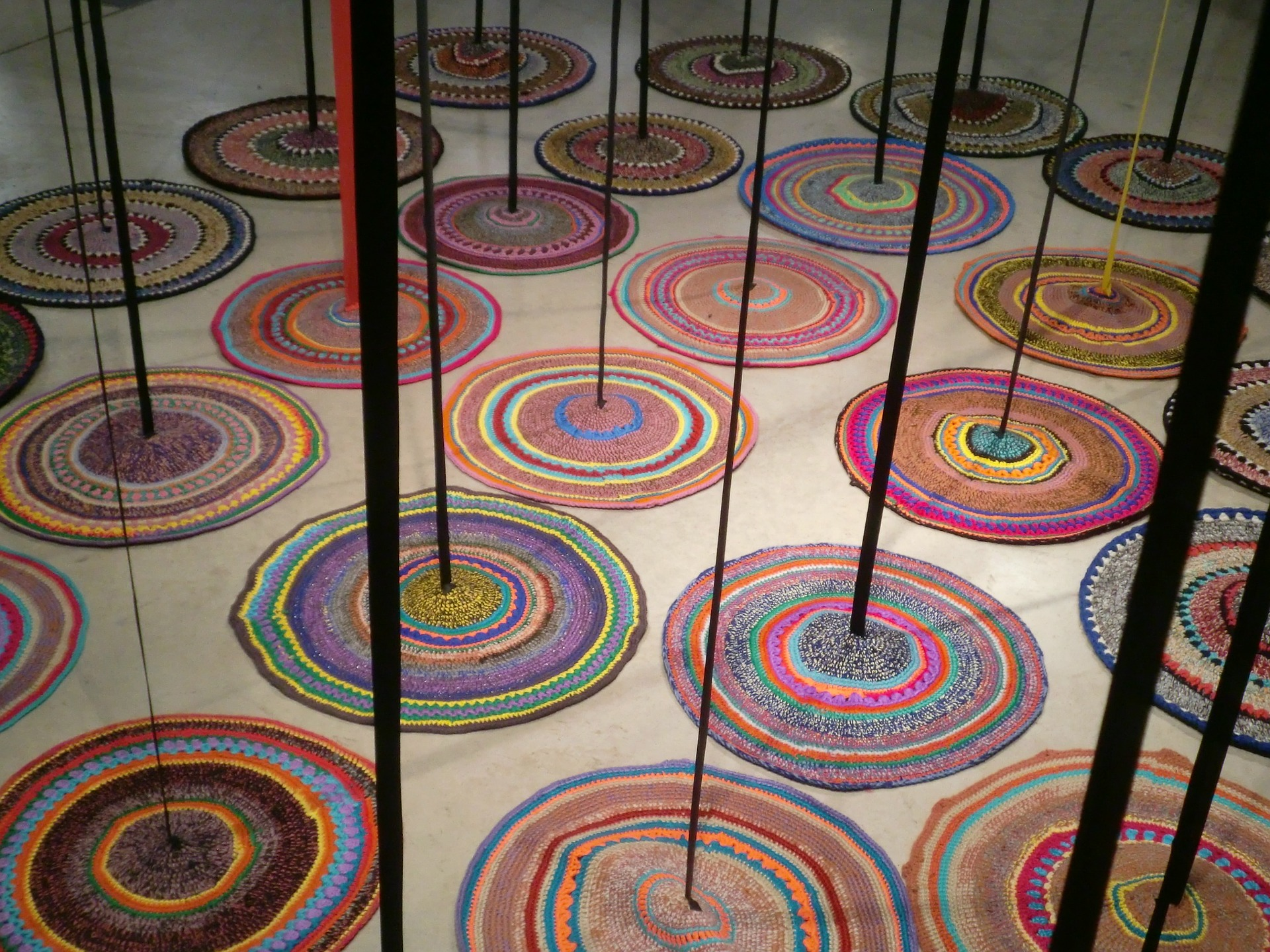 Colorful wool carpets