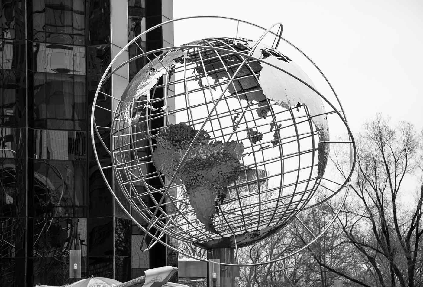 Columbus Circle Globe à Manhattan.