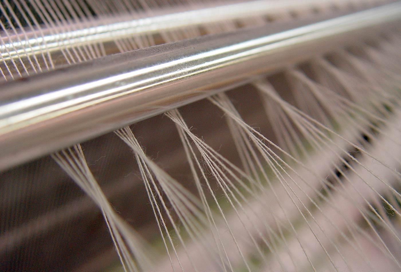 Wool weaving machine.