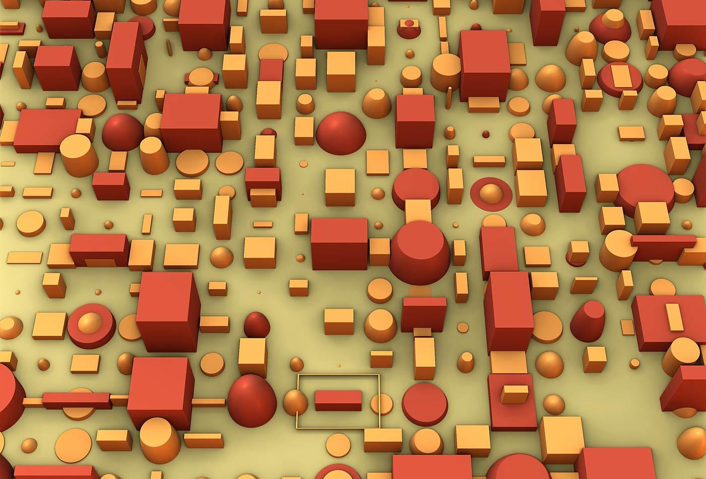 Cubes, bricks, squares