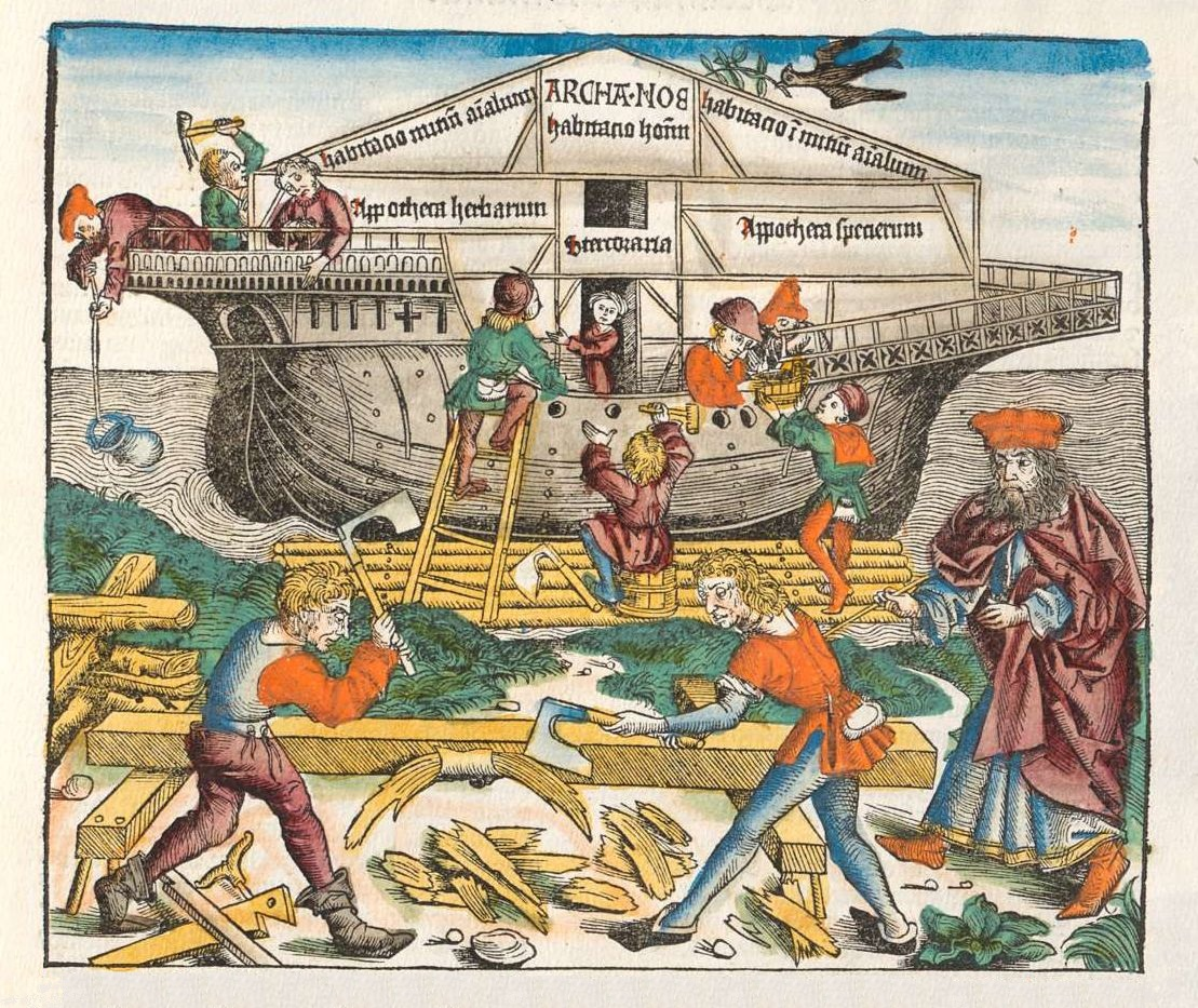 Noah's Ark - Nuremburg Chronicle 15th century