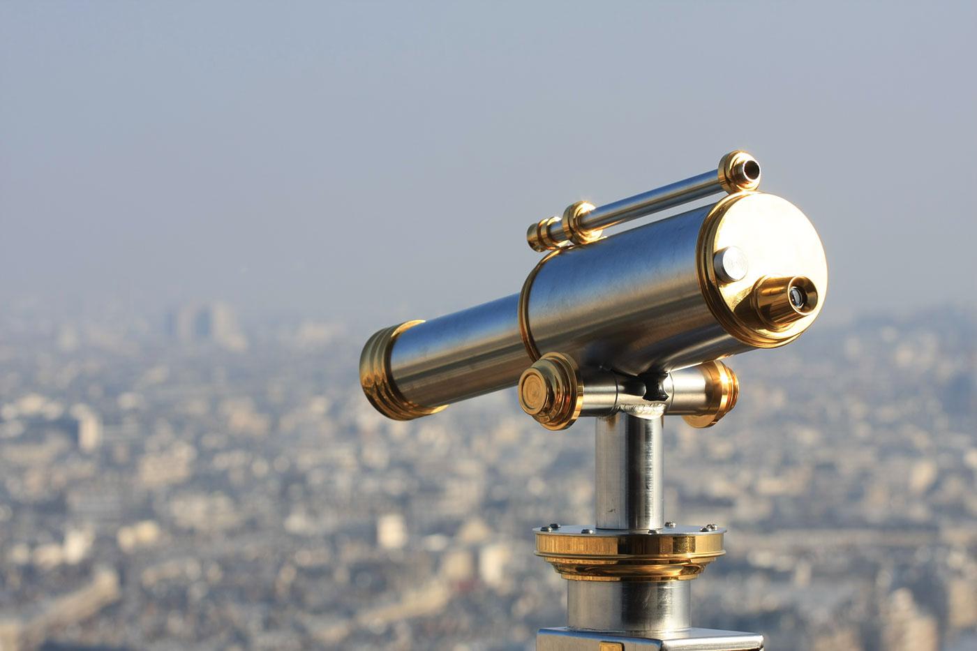 Telescope on Eiffel Tower