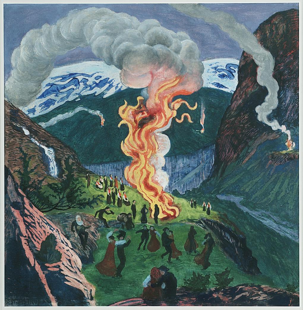 Nicolai Astrup, Midsummer Night Bonfire