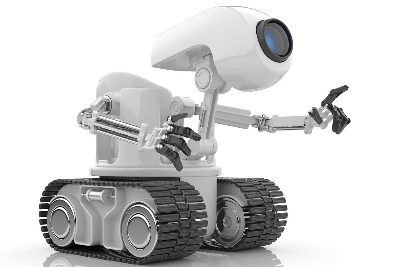 Futuristic robot.
