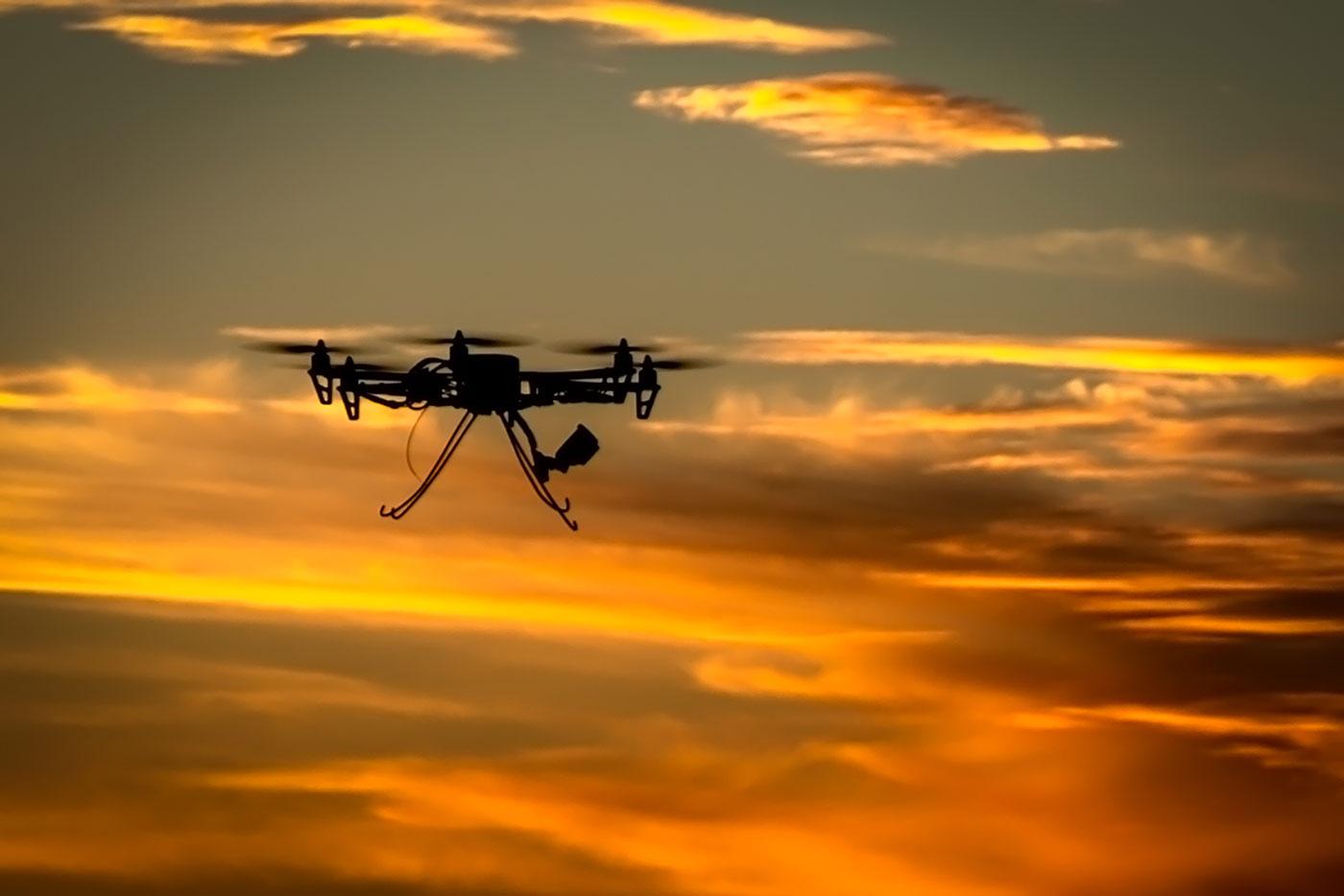 Hexactopter in flight