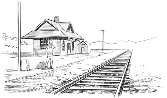 A train on tracks is a good metaphor for data-driven processes: you know the approach you are taking, your approach is reliable, and what you are going to find out is understood, directed, predetermined, and repeatable.