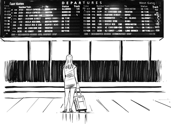 A train station is a good metaphor for being data informed: you know there are various trains, and they are likely going to different places. You are aware there are options and there are mechanisms for finding out which is the right train for you. There is less certainty and more exploration possible, with many possible destinations at the end.