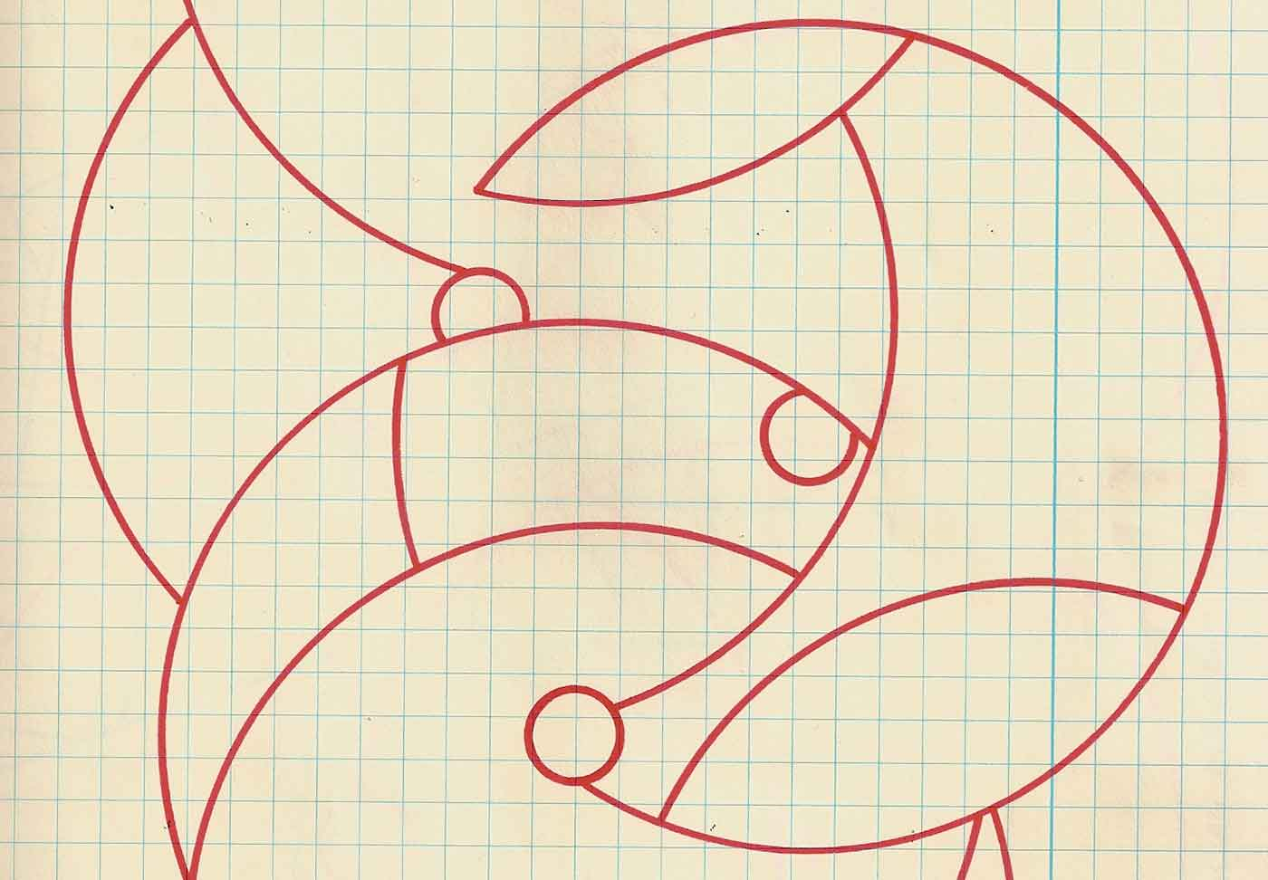 Graph paper with designs