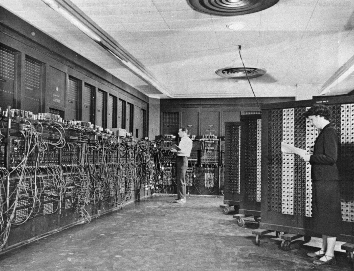 ENIAC (Electronic Numerical Integrator And Computer) in Philadelphia, Pennsylvania, circa 1947 to 1955.