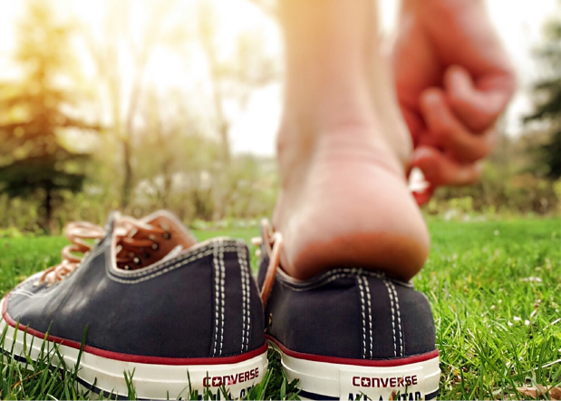 Take a moment to feel your feet. When they are in shoes, we barely notice them. When we take off those shoes to walk barefoot through the grass, the wonderful sensation can completely take over.