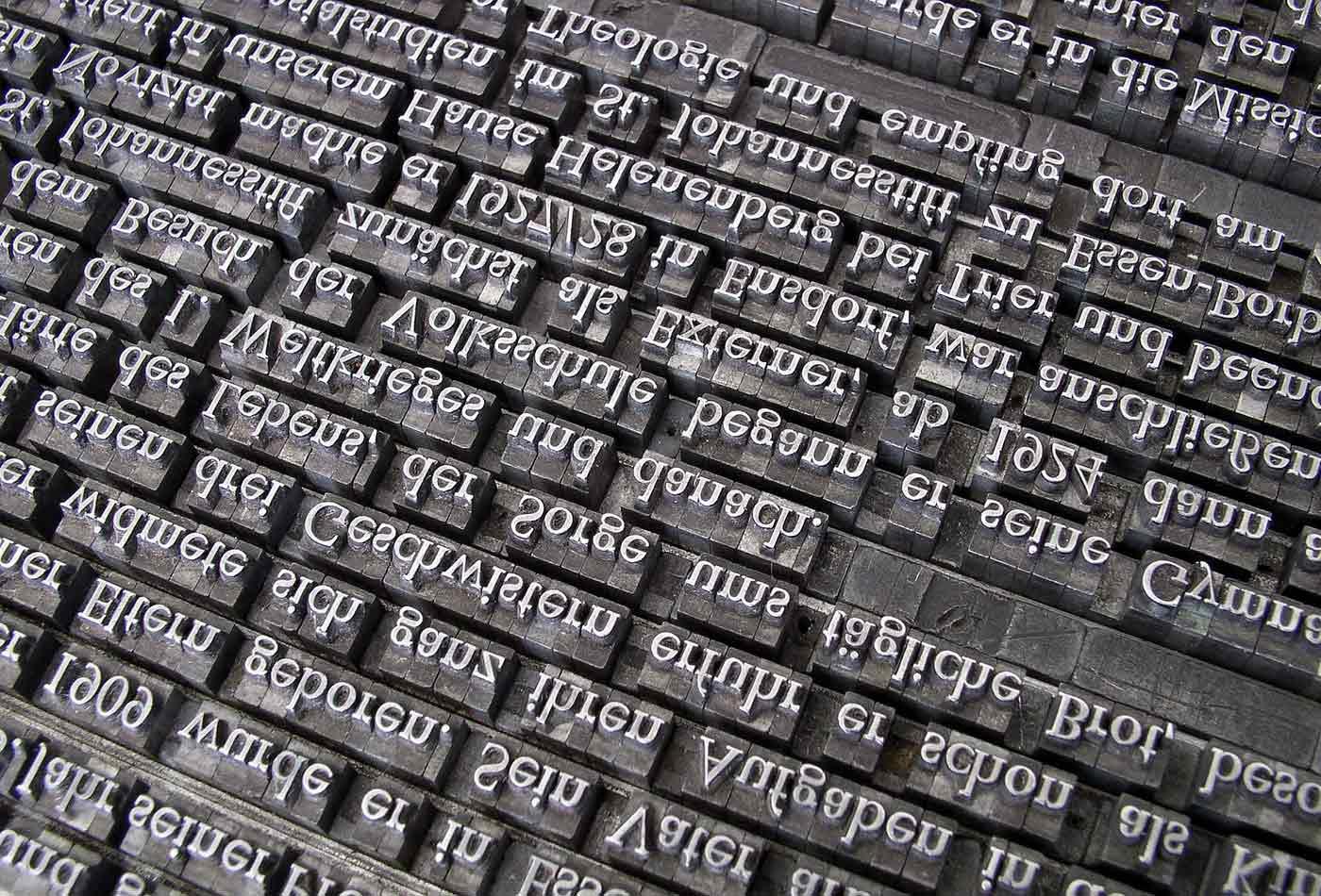 Letterpress set.