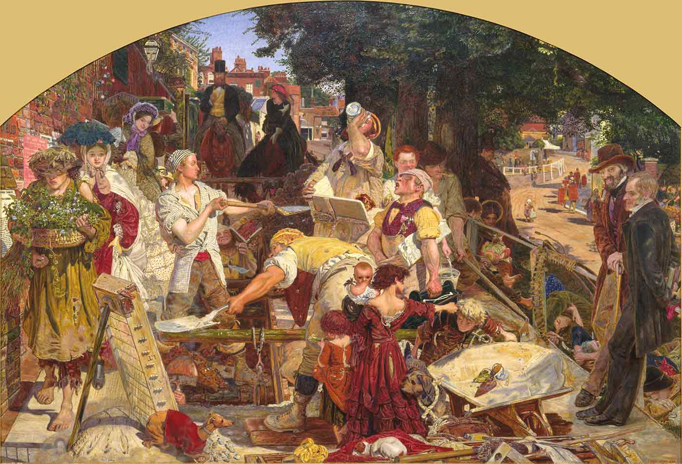 """""""Work,"""" by Ford Maddox Brown, 1863"""