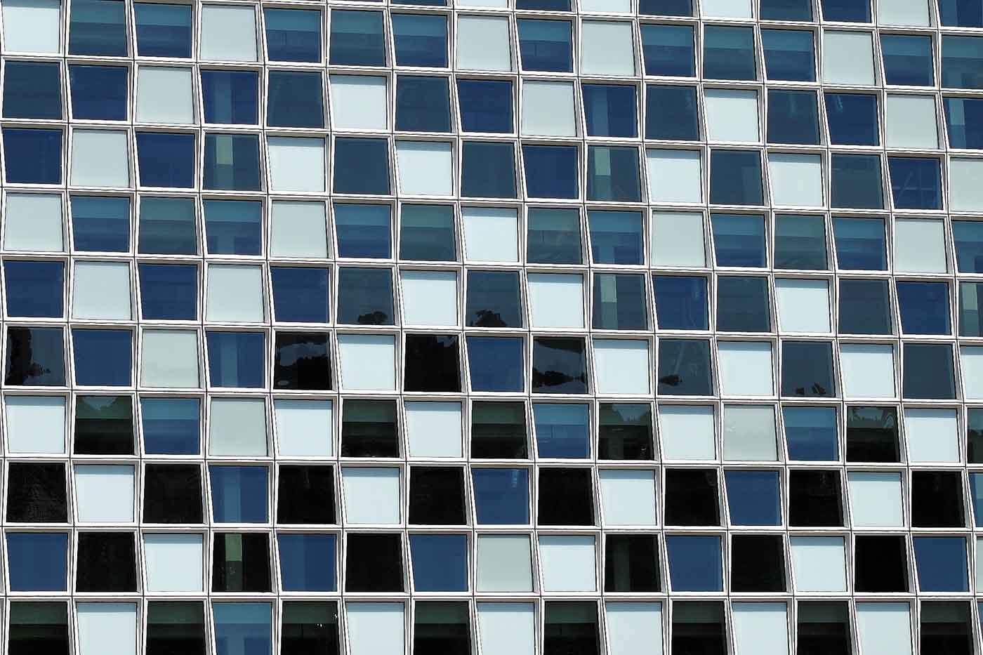 Blue and grey windows