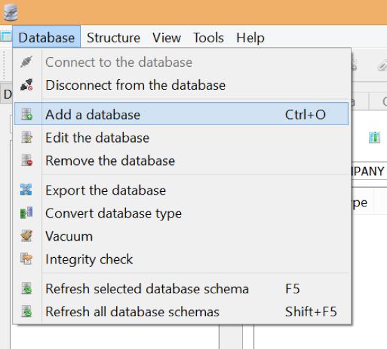 Adding a database