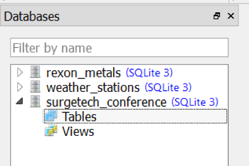 Our new surgetech_conference database