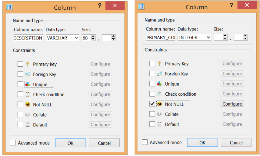 Creating the remaining two columns