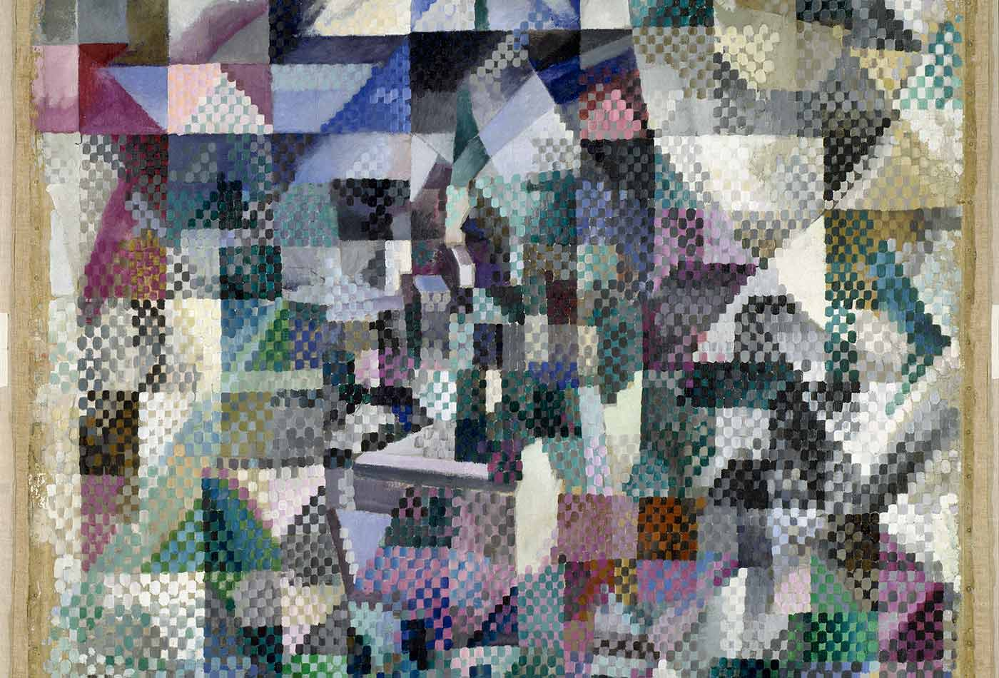 """""""Window on the City No. 3,"""" by Robert Delaunay, 1911-12."""
