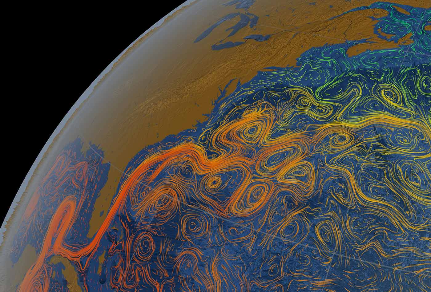Gulf Stream Sea Surface Currents and Temperatures