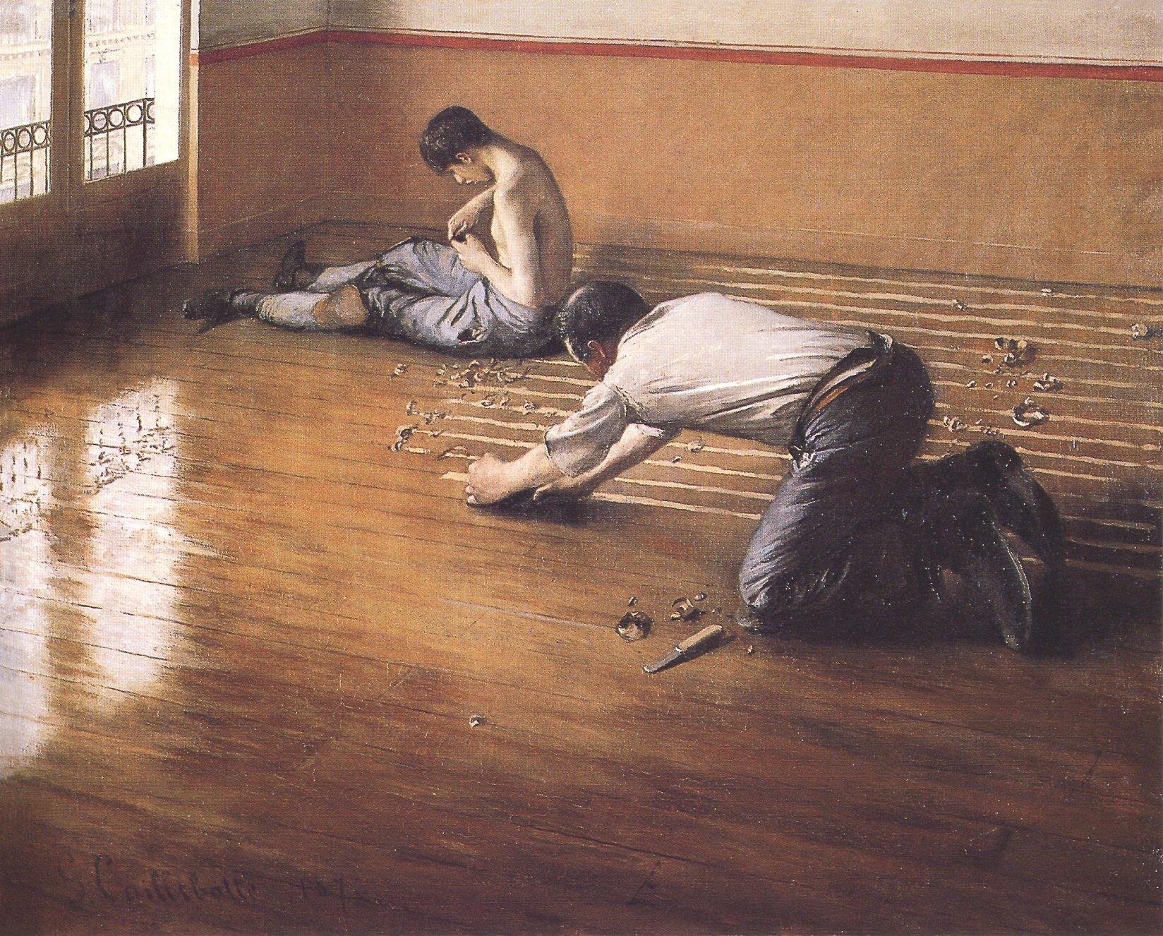 Floor-scrapers, Gustave Courbet (2nd version). 1876