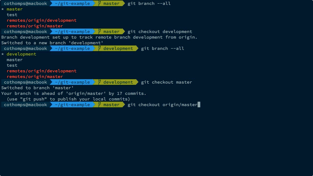 """Screen from """"How do I check out a remote branch with Git?"""""""