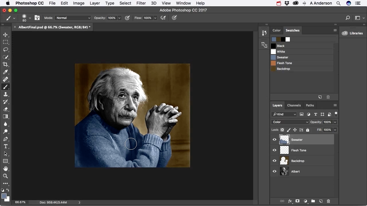 "Screenshot from ""How do I colorize an image in Photoshop?"""