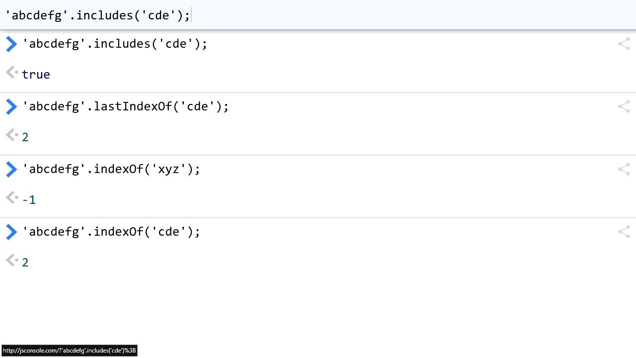 """Screenshot from """"How do you check if one string contains a substring in JavaScript?"""""""