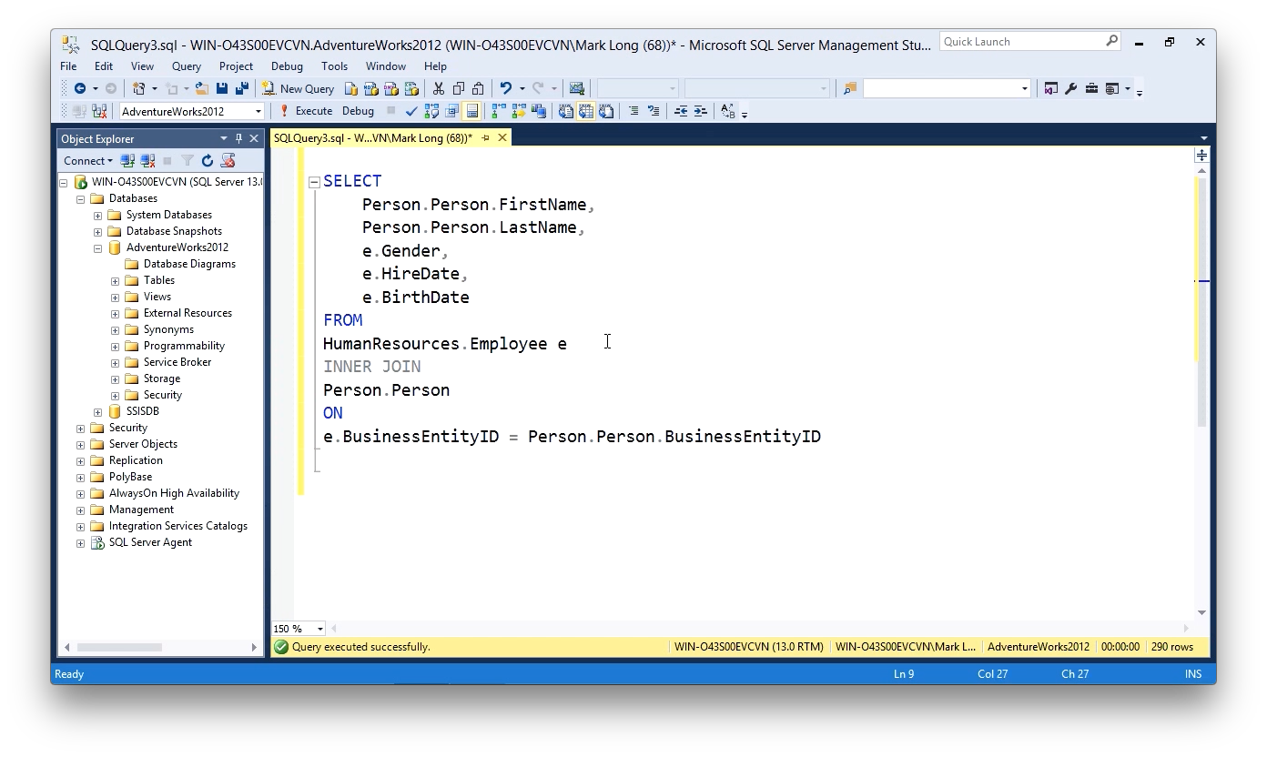 """Screen from """"How should I format Transact-SQL queries?"""""""