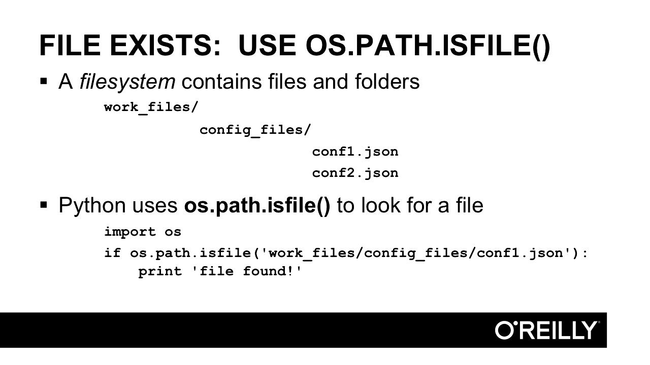 """Screenshot from """"Verifying file existence in Python"""""""