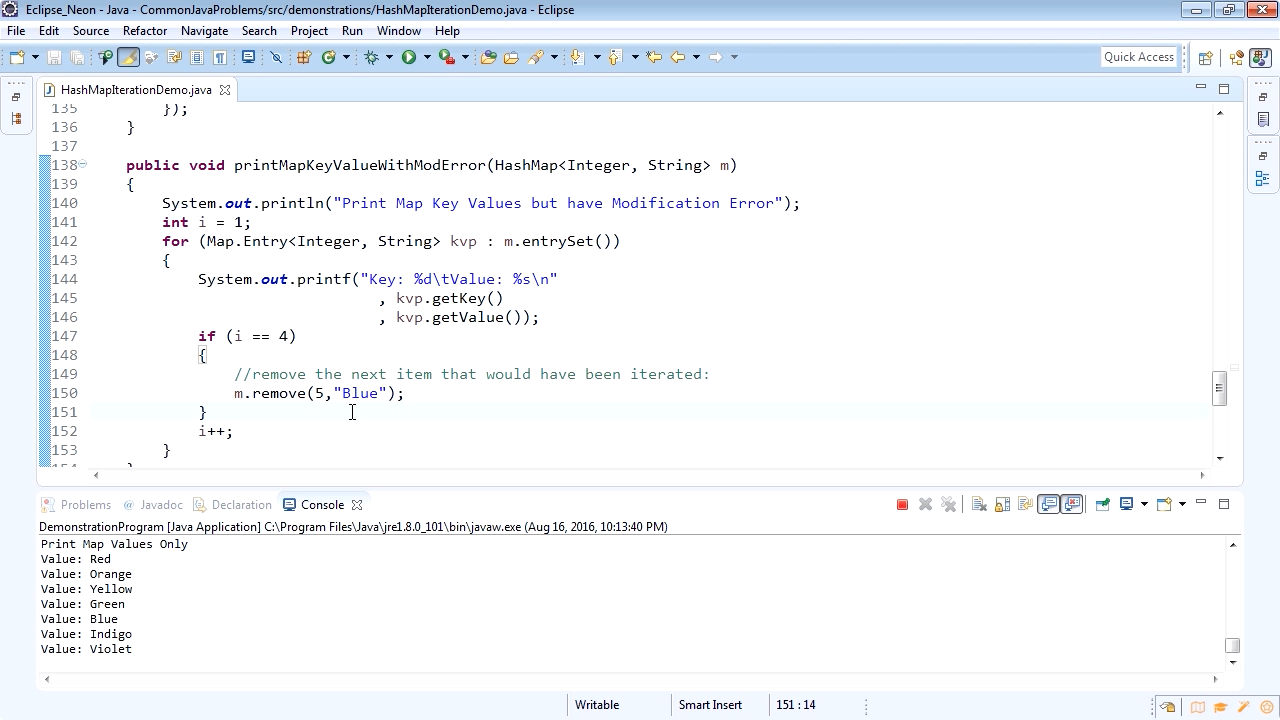 "Screenshot from ""How to iterate a HashMap in Java"""